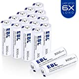 EBL 1.5V 3000mAh AA Litio Baterías Alto Rendimiento Metal de litio Pila para los Equipos Domésticos - 16 Unidades