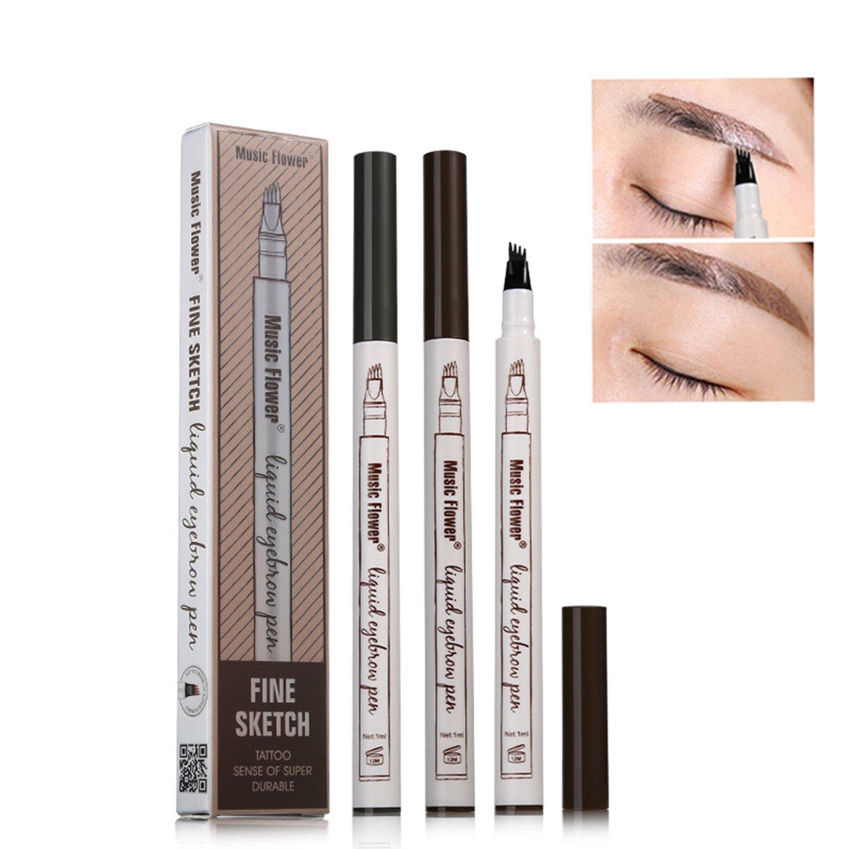 Tattoo Sopracciglio con quattro punte Waterproof Long-lasting Eye Brow Pencil Eyes Makeup Cosmetic Tool Keleiankai