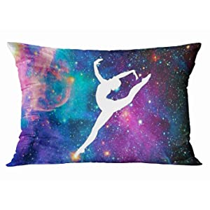 Tarolo Home Decor Pillow Cover Case Funny Gymnastic Space Gymnastics Galaxy Milky Way Decorative Pillowcase Rectangle Pillow Covers Cases 20x30 Inches Two Sided Print