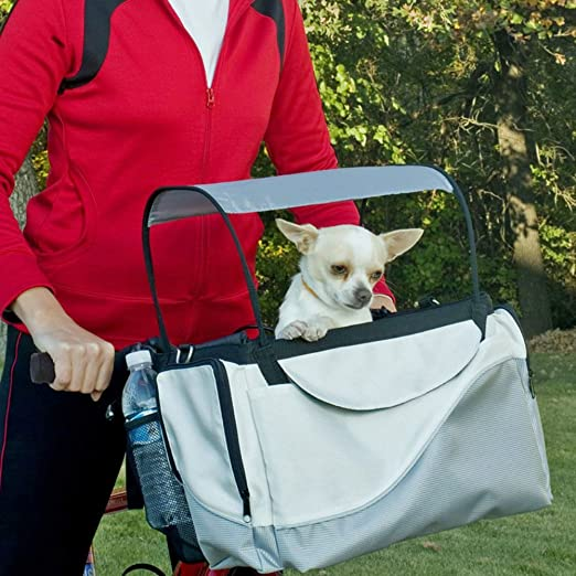 LIOOBO Bike Basket Handmade Natural Vine Pet Cat Dog Carrier Front Bicycle Handlebar Basket Quick Release Easy Install