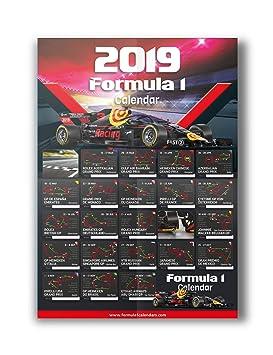 Calendario De Formula 1 2019.Formula 1 Calendar 2019 Formula One Circuit Wall A1 Poster