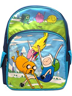 Full Size Blue Jump and Land Adventure Time Backpack - Adventure Time  Bookbag 37455112e3