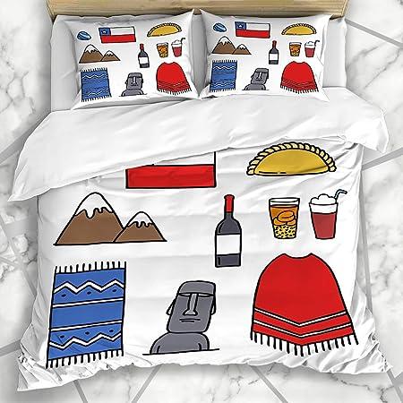 Copripiumino America.Duromhua Biancheria Da Letto Set Copripiumino Moai Drink Doodle