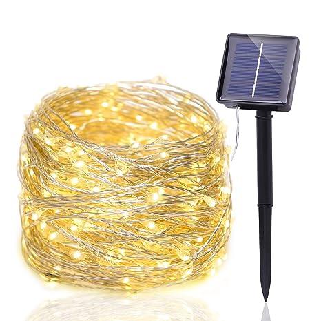 New Journey Halloween - Luz de cuerda solar, 200 LEDs - Control de sensor de