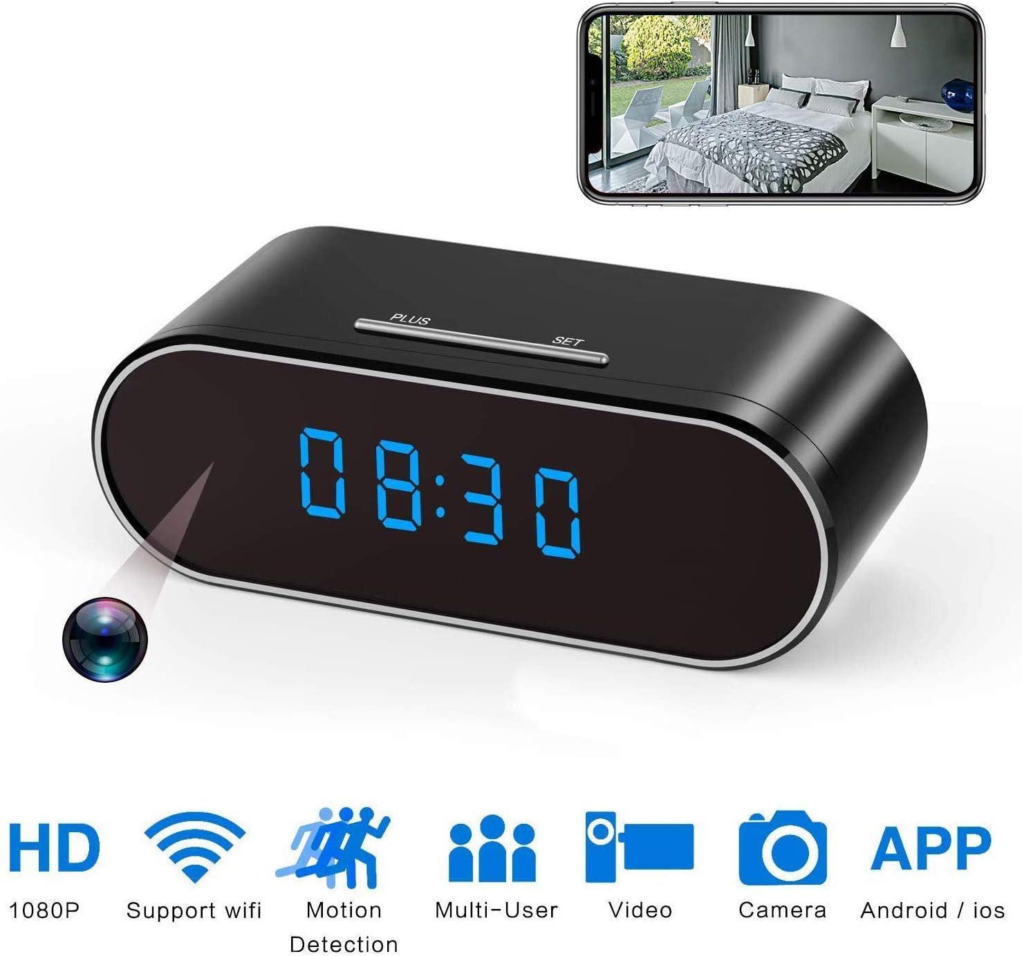 Mini 1080P WIFI HD Spy Hidden Clock Wireless IP Camera Video Recorder Nanny Cam