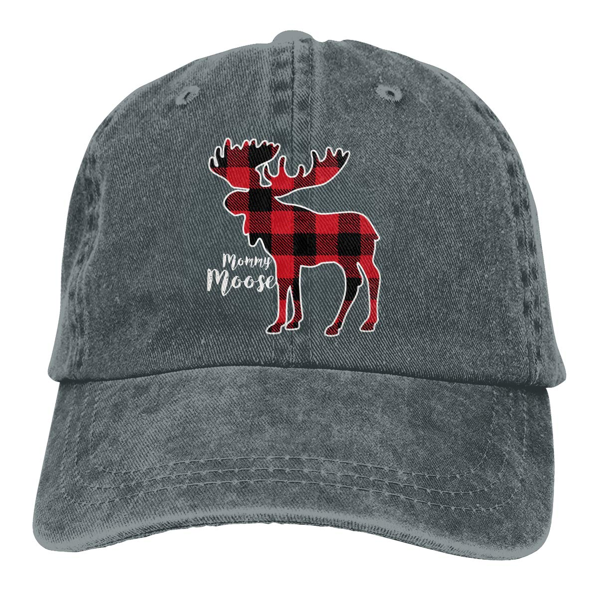 de659f1a737 Mommy Moose - Red Plaid Buffalo Dad Hat Adjustable Denim Hat Classic Baseball  Cap at Amazon Men s Clothing store