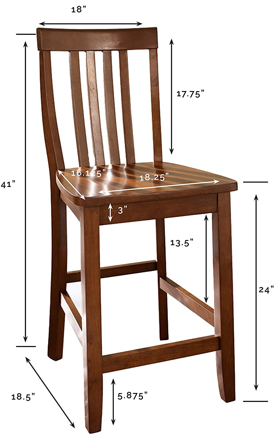 Amazoncom Crosley Furniture Cf500324 Ch Schoolhouse Bar Stool Set