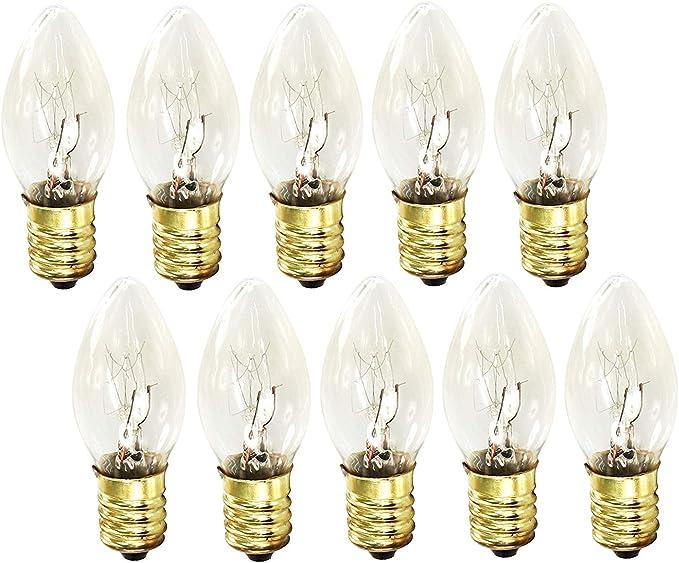 dimmbar f/ür Dekoleuchten Lichterketten Weihnachtslichter Partybeleuchtung K/ühlschrank 2600-3000K warmwei/ß Mini Kerze Gl/ühlampe E14 10W 10er PACK