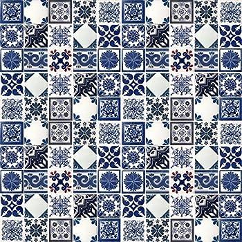 Amazon.com: 3dRose Royal Blue and White Damask Pattern