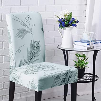 Amazon.com: TANGOGO 6 Pieces Elastic Chair Cover Set Printed Chair ...
