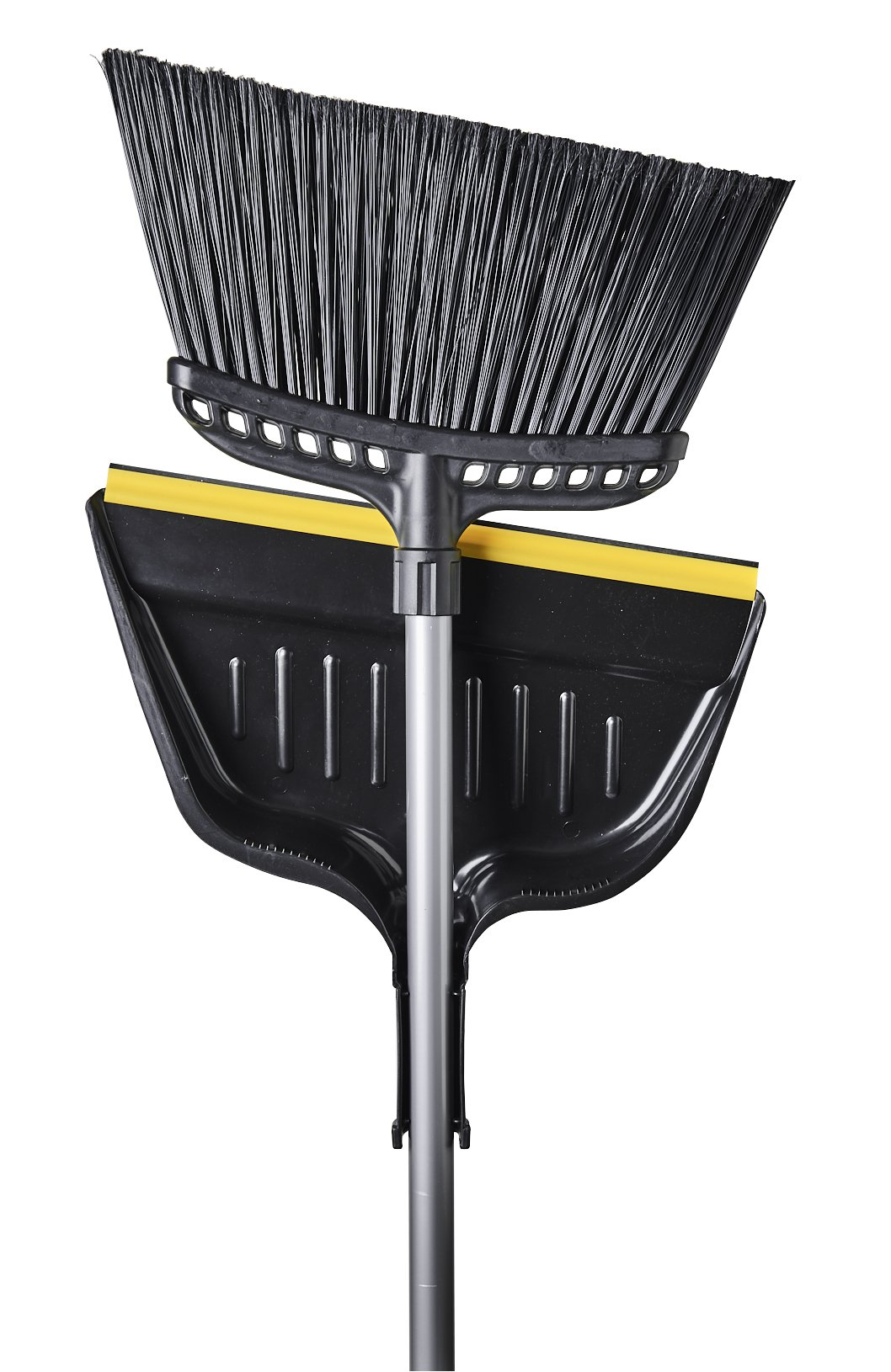 M2 Professional Hercules Heavy-Duty Industrial Angle Broom with Rubber Edge Dust Pan (Pack of 4)