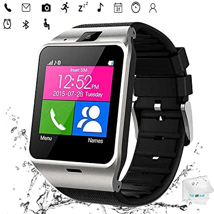 Smart Watch Anti Lost Bluetooth Wristwatch Pedometer Activity Tracker Sports Smartwatch Music Wristband Compatible with Men Women Boys Android Phones ...