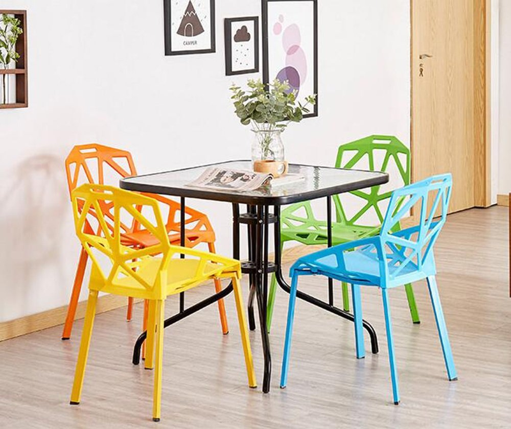 Xin-stool Chairs/Household Simple Plastic Stools/Individual tea shop tables/chairs/European dining table/chair/Creative lounge chair/Fashion stool/465581cm (Color : Green) by Xin-stool (Image #3)