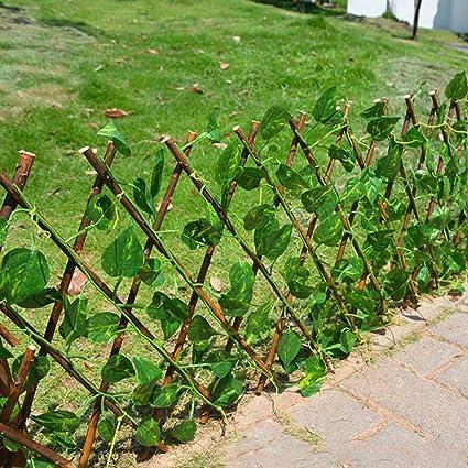 ALLPER Celosía seto con Hojas, Barrera Plegable de Mimbre para el jardín, Medidas de 250 cm x 55 a 40 cm x 120, Plegable, Material de Primera Calidad. Valla.: Amazon.es: Jardín