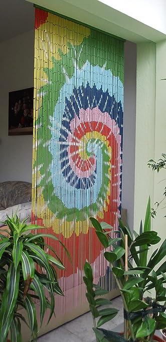 Amazon De Bambusturvorhang Bambusvorhang Turvorhang Rainbow Ca