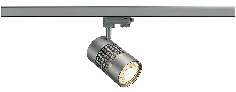 SLV Structec Led rund, 3000 K, 38 grad, inklusive inklusive inklusive 3 Pin Adapter, 22 W, silber grau 152824 1b0709