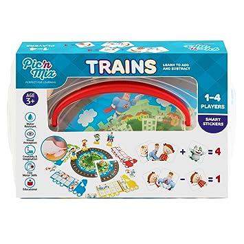 Juguetes Picnmix De Educativos Niños Trenes Para Matemáticas Juego 4 UMVSpz