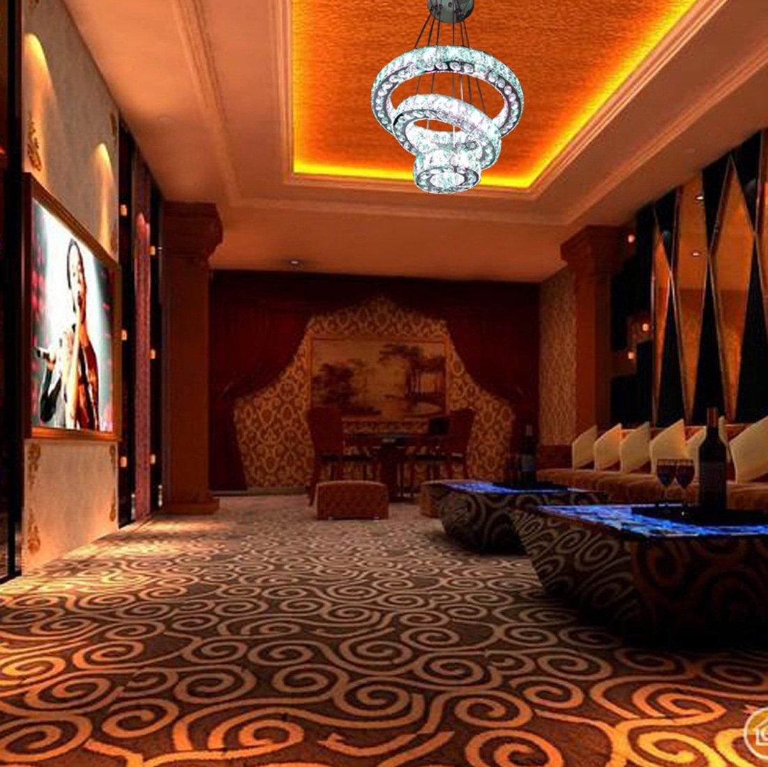 Ydxwan LED RGB DiscolGoldt geformt Kristall Kronleuchter, Kronleuchter, Kronleuchter, Edelstahl, dimmbar, Moderne Moderne Wohnzimmer Kristall Kronleuchter, Kronleuchter B07CSN8RF3 | Große Klassifizierung  e2f850