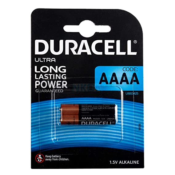 Duracell AAAA MX2500 Alkaline Batteries 1,5V - Pack of 2 General Purpose Batteries & Battery Chargers at amazon