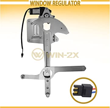 Fits 01 2001 Silverado Pickup Power Front DRIVER Window Regulator w// Motor NEW