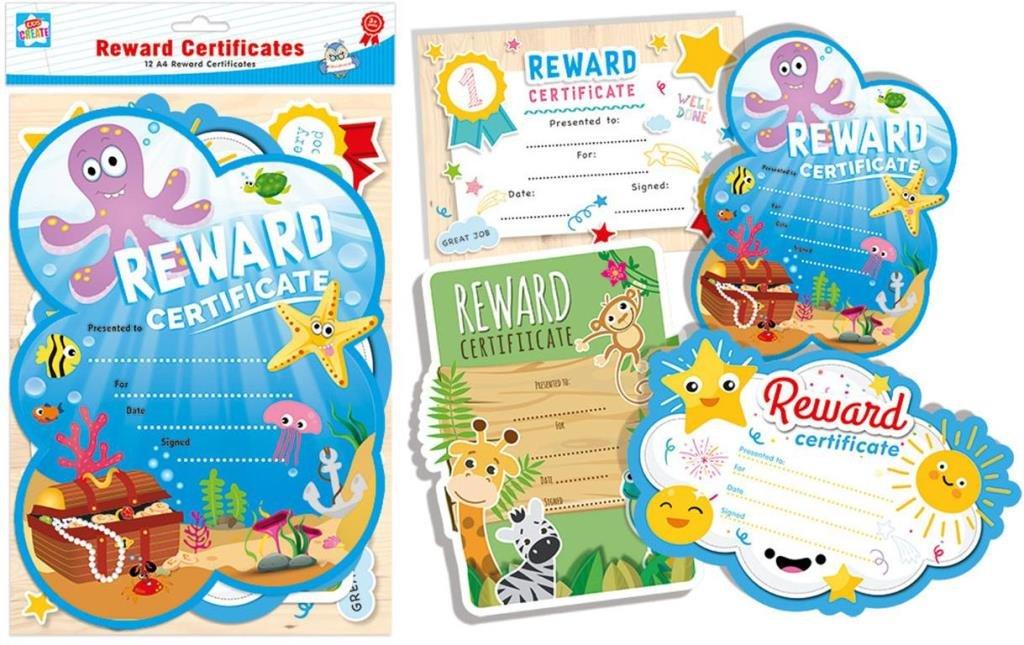 24 x A4 Childrens Reward Certificates Ankerinternational