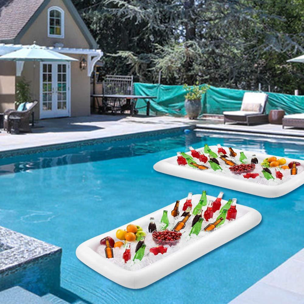 2 PCS Inflatable Serving Salad Bar Picnics Buffet Luau Cooler Pool Parties BBQ Party Supplies