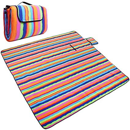 31af46ba6296 Large Outdoor Picnic Blanket with Waterproof Backing -Beach Rug Mat ...