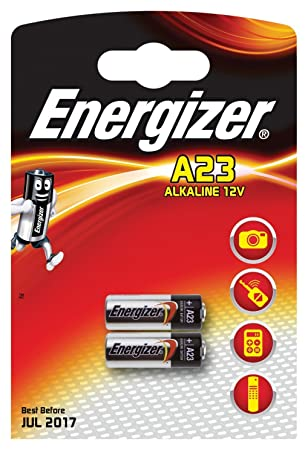Energizer Eveready 05266 A23 12 Volt Photo Garage Door Opener Electronic Keychain Battery 2 Pack A23BP 2