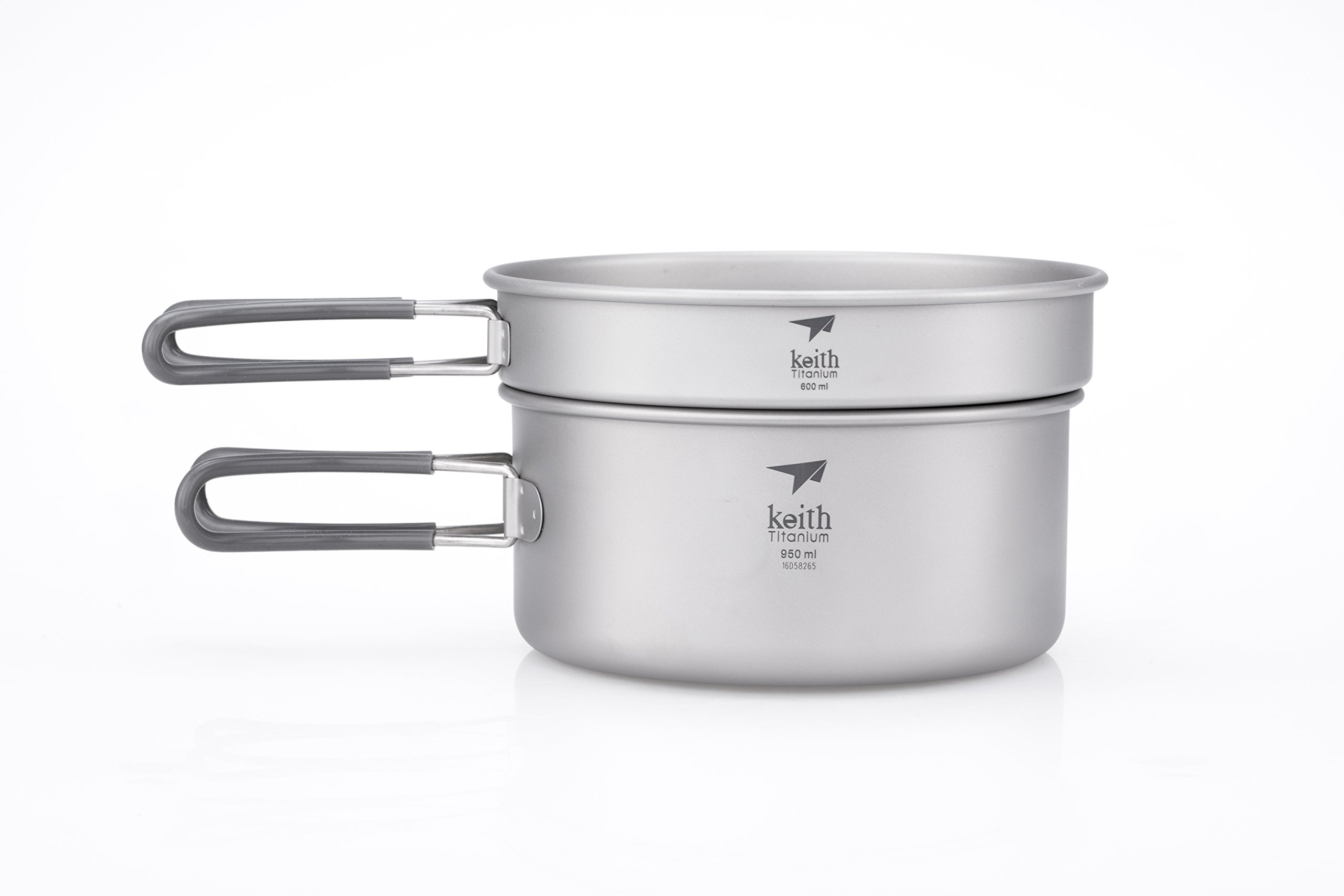 Keith Titanium Ti6016 2-Piece Pot and Pan Cook Set - 1.55 L (Limited Time Price) by Keith Titanium
