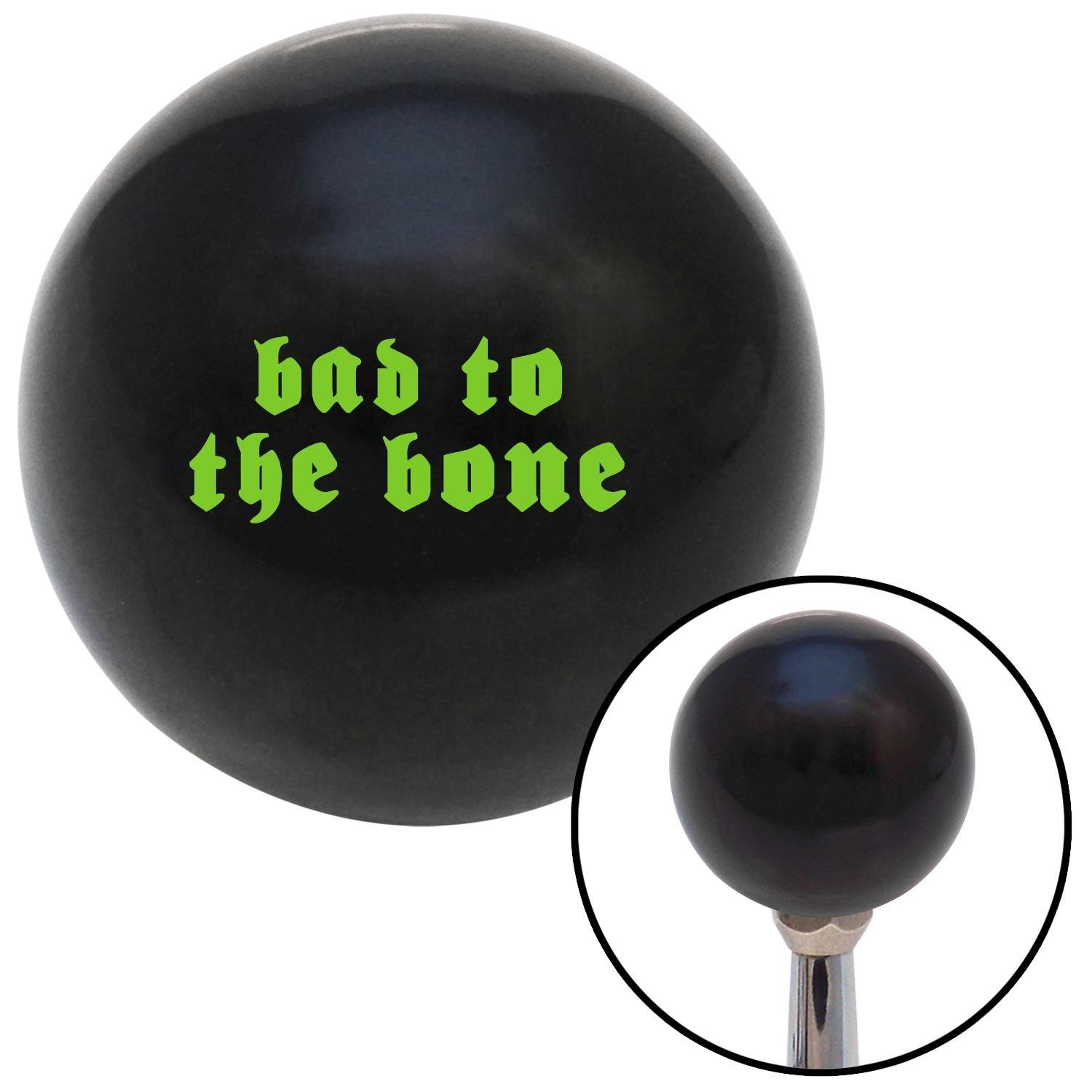 American Shifter 110387 Black Shift Knob with M16 x 1.5 Insert Green Bad to The Bone
