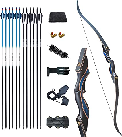 30-70lbs archery recurve bow longbow sets adult hunting target