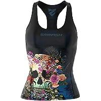 SMMASH Muerte Sport Top Tank para Mujer, Camiseta de Tirantes Deportivas, Camiseta sin Manga para Fitness, Yoga…