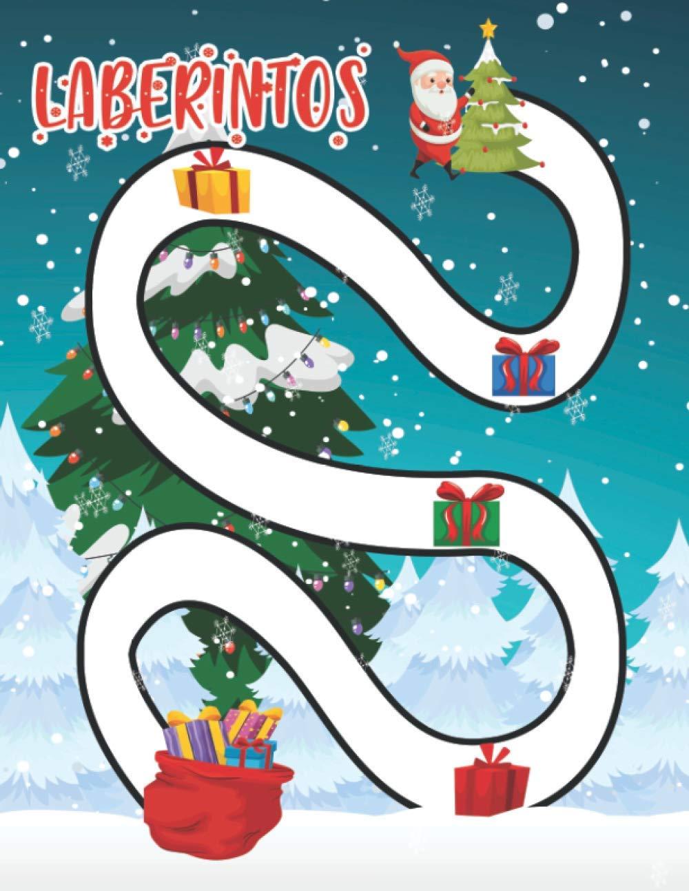 Laberintos: Libro de actividades Posible-imposible laberintos de navidad para niños Busca y encuentra 100 laberintos