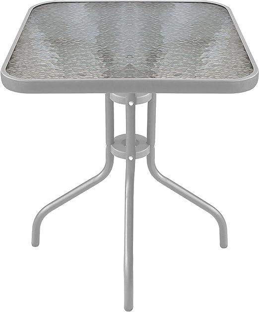 Multistore 2002 Table Bistro /Ø60cm plateau de table en verre cannel/é Balcon Table De Jardin