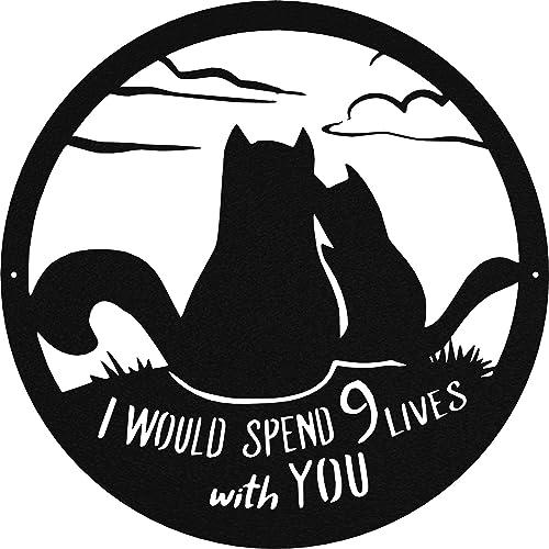Badger Steel USA Cat 9 Lives Metal Wall Art