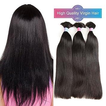 Amazon.com : Straight Bulk Hair 3 Bundles