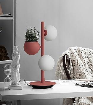 AuBergewohnlich Tischlampe Nordic Studie Einfach Moderne Wohnzimmer Schlafzimmer Nachttisch  Lampe Ball Pflanze Tischlampe Lampen Und Beleuchtung