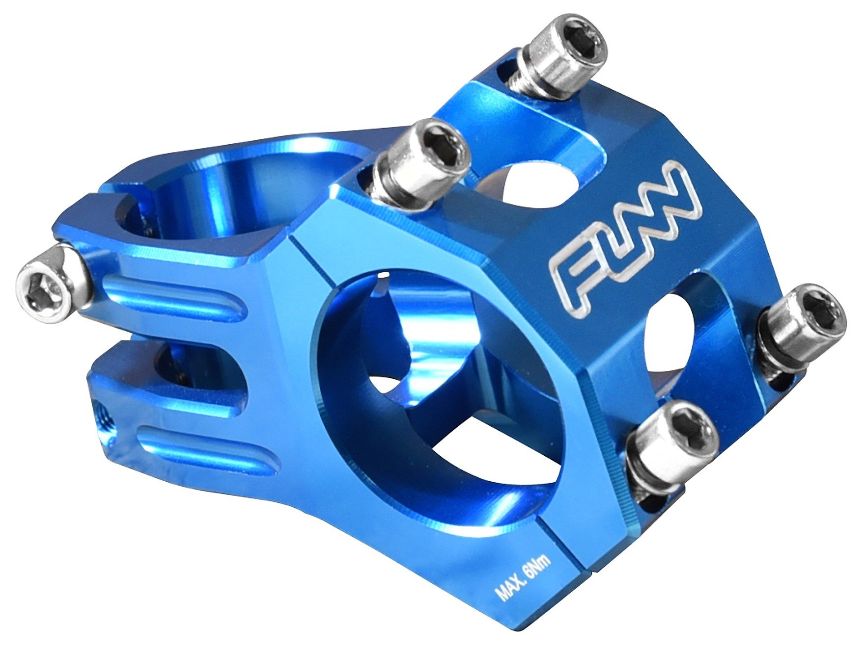 Funn Funnduro MTB Stem, Bar Clamp 31.8mm (Length 45mm, Blue)