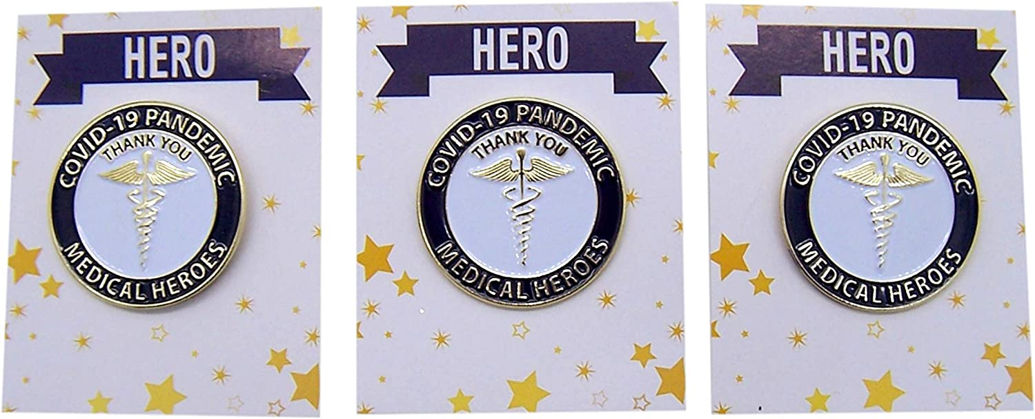 1 1//4 Inches Wowser Medical Heroes Thank You COVID-19 Lapel Pin Set of 1