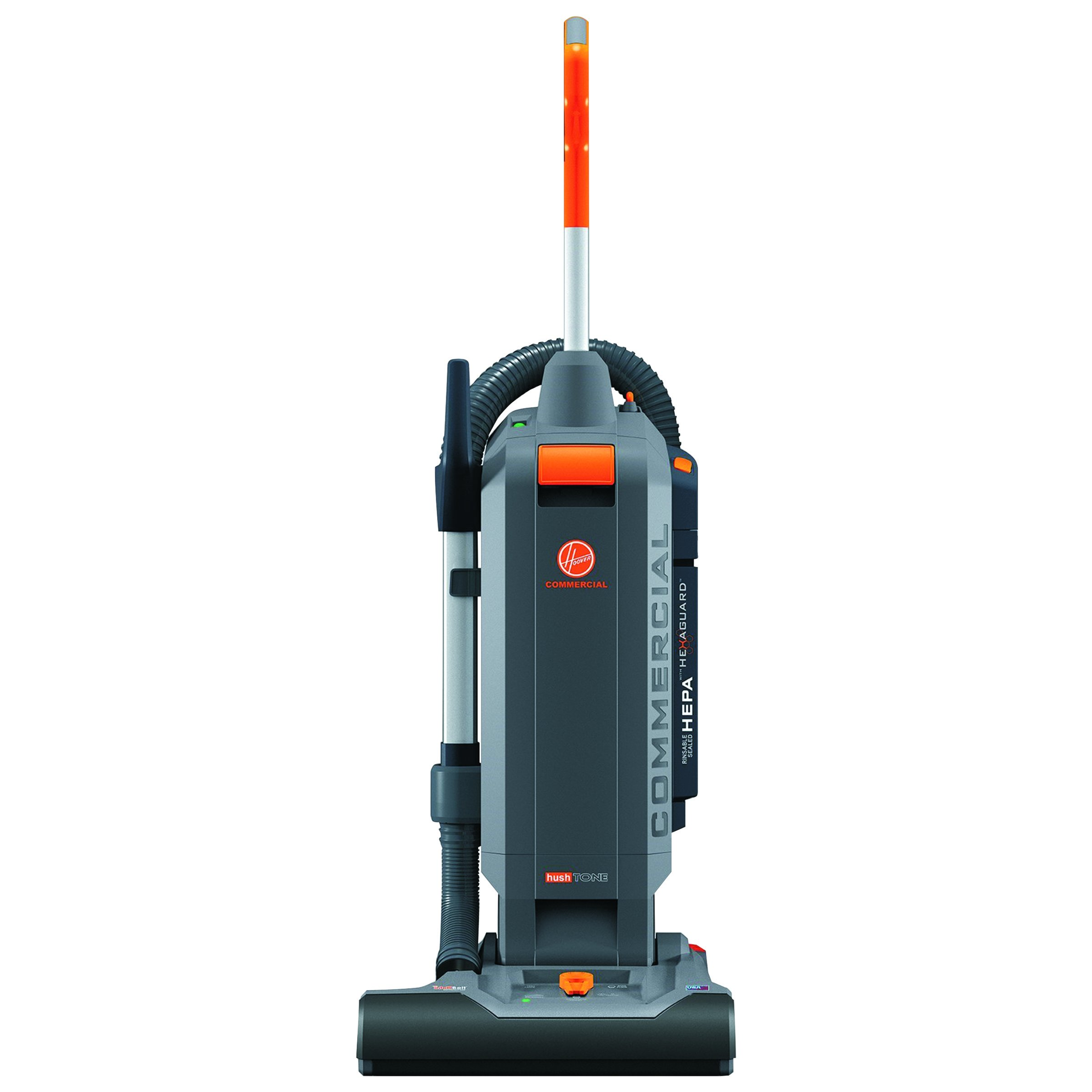 Hoover Commercial CH54115 HushTone Hard-Bagged Upright with Intellibelt, 15'' by Hoover Commercial