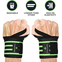 "EasyHealth Wrist Wraps – 22"" Professional Grade with Thumb Loops – Wrist Support Braces for Men and Women (1 Pair)"