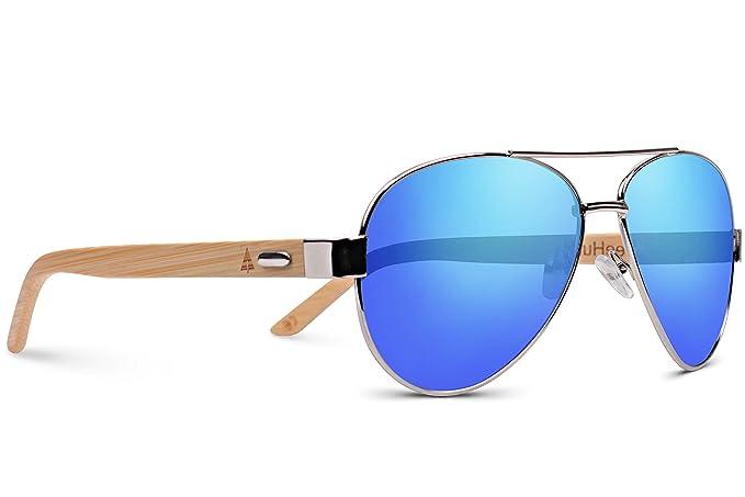 Amazon.com: Treehut de madera de bambú anteojos de sol ...