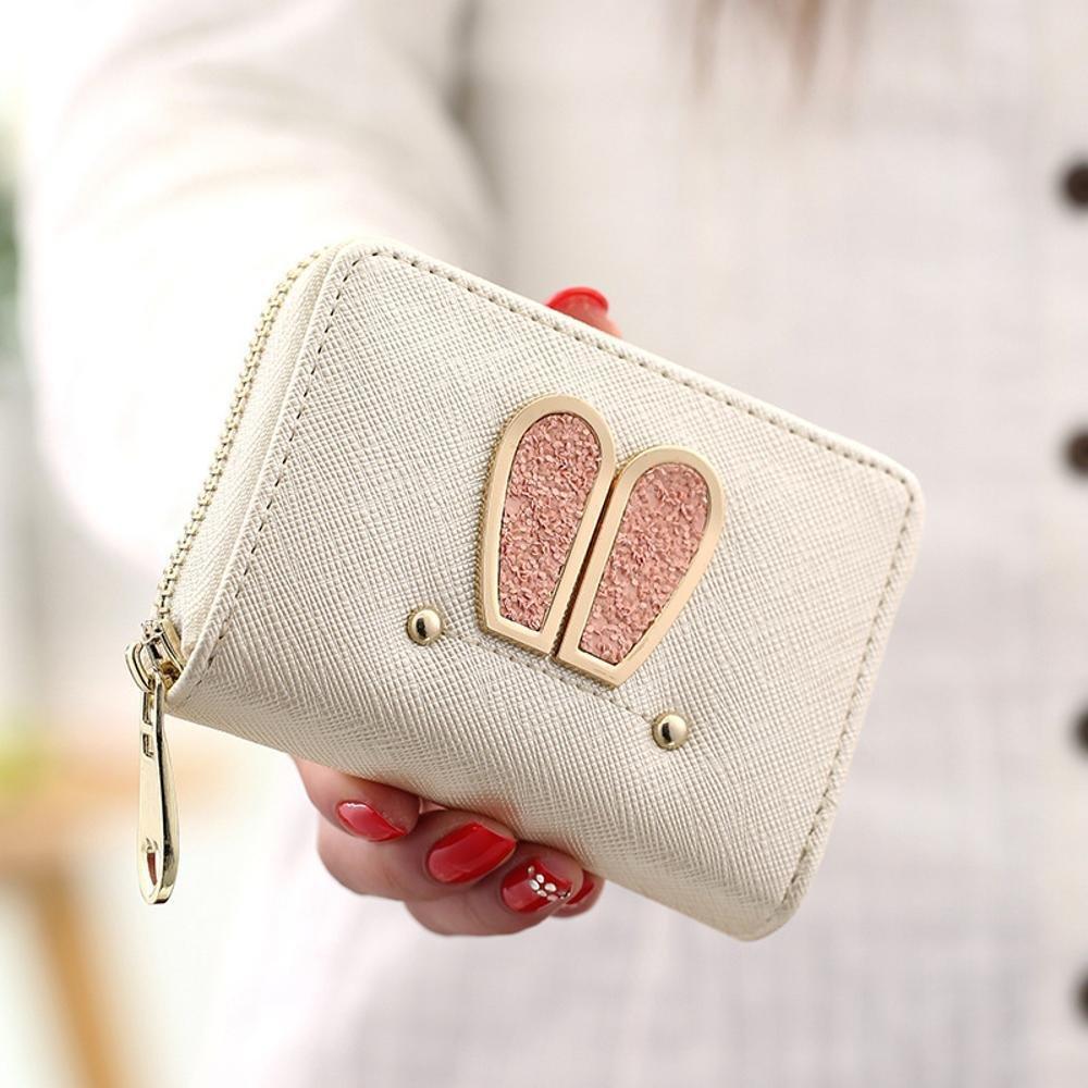Amazon.com : Kaxima Rabbit Purse Womens Short bi-Wallet ...
