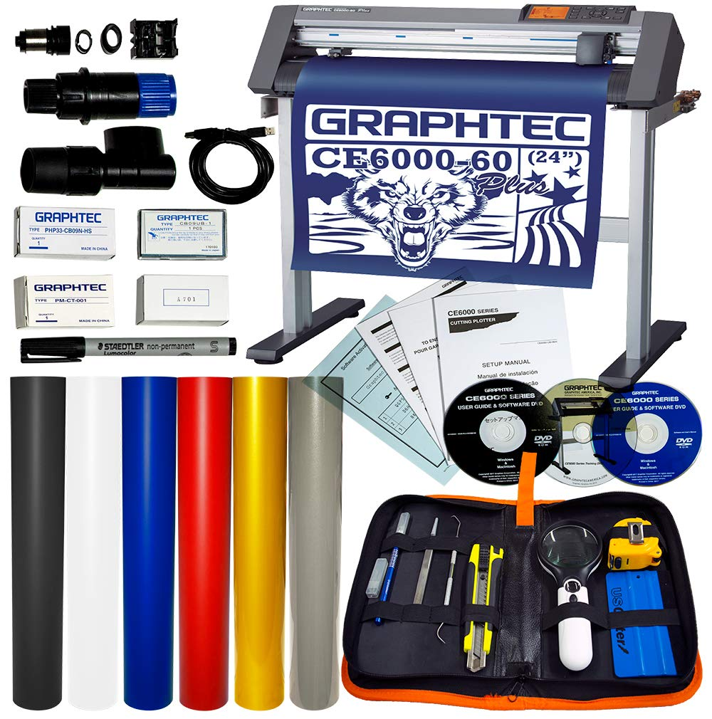 USCutter 24'' Graphtec CE6000-60 Plus Vinyl Cutter Plotter + Tools Supplies Exclusive Bundle