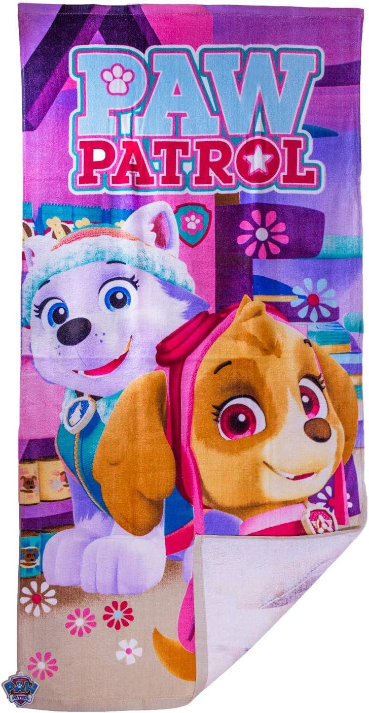 Handtuch f/ür zu Hause oder den Urlaub am Meer Nickelodeon Paw Patrol Hunde Skye und Everest Kinder M/ädchen Strandtuch 140 x 70cm Badetuch