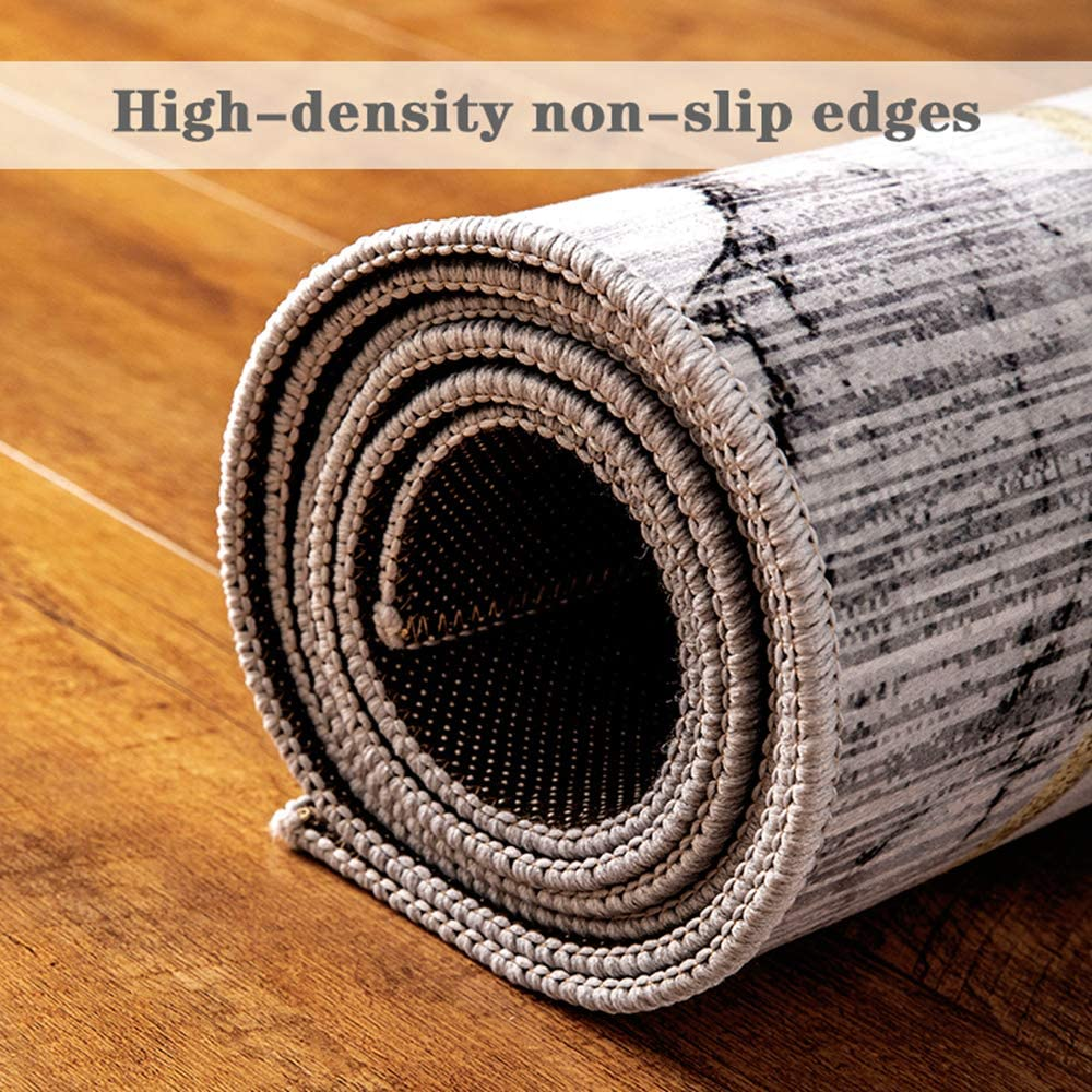 YOUSR Shaggy Rugs Rectangle 40x60cm Baby Crawling Rug Soft Fluffy Machine Washable for Living Room Bedroom Sofa Nursery Rugs