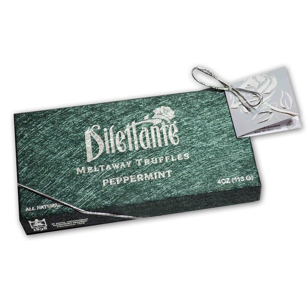 Peppermint Meltaway Truffles - Chocolate Truffle Gift Box - by Dilettante (3 Pack)