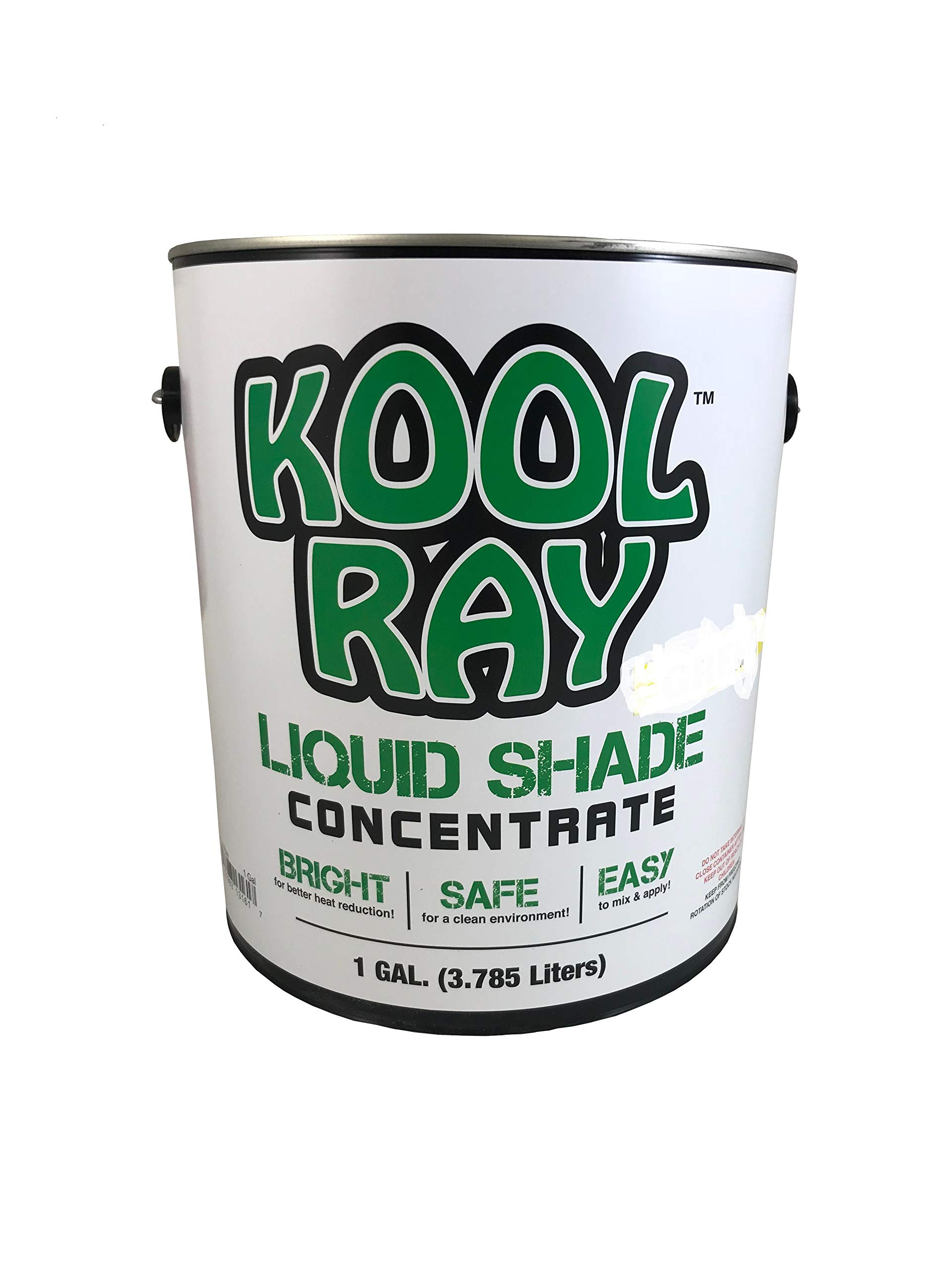 Classic Kool Ray Liquid Shade - Greenhouse Paint - White - 1 Gallon by The Continental Products Co