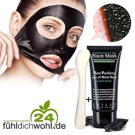 Mascarilla purificante negra + 1 espátula de belleza para una limpieza profunda del rostro