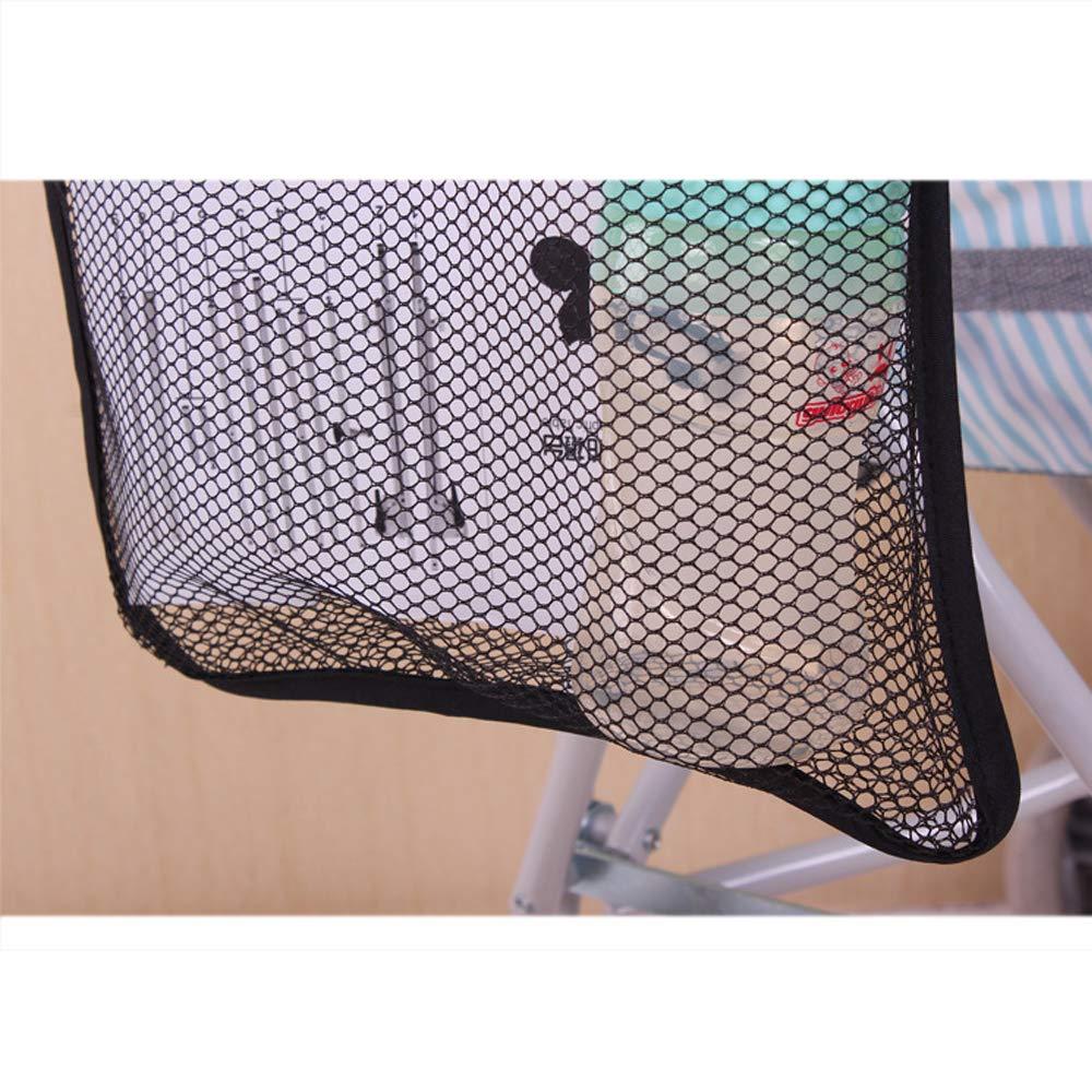 Vektenxi Kinderwagen Netztasche Kinderwagen Kinderwagen H/ängenetz Netztasche mit Getr/änkehalter 30 x 30 cm Schwarz